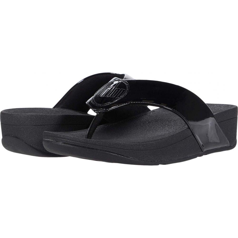 フィットフロップ FitFlop レディース サンダル・ミュール シューズ・靴【Demelza Logo Toe-Post Sandals】All Black