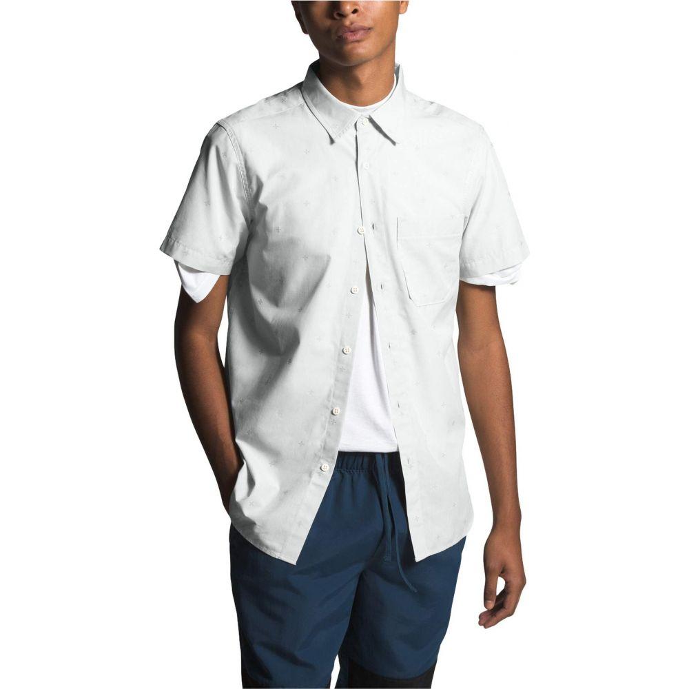 ザ ノースフェイス The North Face メンズ 半袖シャツ トップス【Short Sleeve Baytrail Jacquard Shirt】Tin Grey Cross Clip Jacquard
