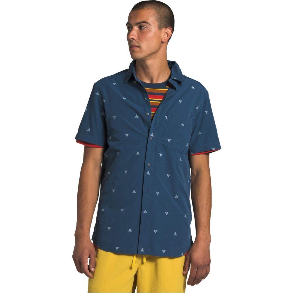 ザ ノースフェイス The North Face メンズ 半袖シャツ トップス【Short Sleeve Baytrail Jacquard Shirt】Shady Blue Arrowhead Jacquard