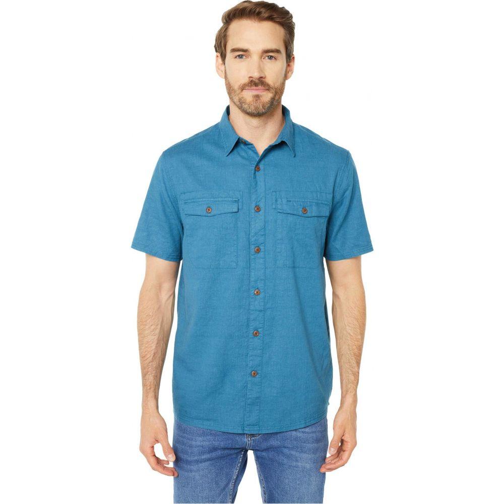 ロイヤルロビンズ Royal Robbins メンズ 半袖シャツ トップス【Seaview Hemp Short Sleeve Shirt】Midnight