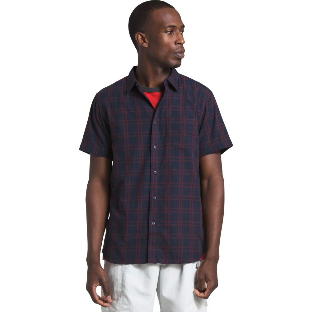 ザ ノースフェイス The North Face メンズ 半袖シャツ トップス【Short Sleeve Hammetts Shirt II】Urban Navy Check Plaid