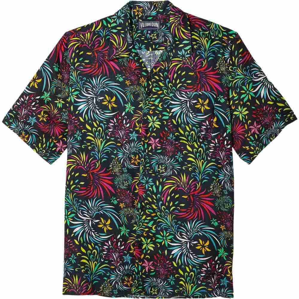 ヴィルブレクイン Vilebrequin メンズ シャツ ボーリングシャツ トップス【Charli Evening Birds Bowling Shirt】Black