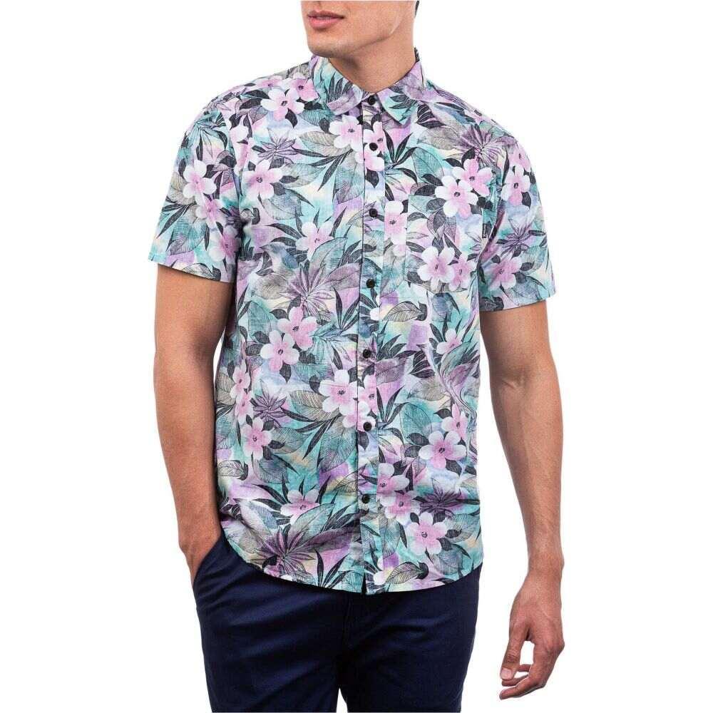 ハーレー Hurley メンズ 半袖シャツ トップス【Spray Gun Short Sleeve Woven Shirt】Digital Pink