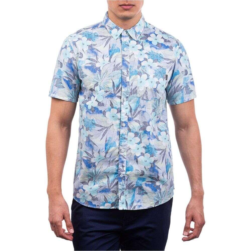 ハーレー Hurley メンズ 半袖シャツ トップス【Spray Gun Short Sleeve Woven Shirt】Half Blue