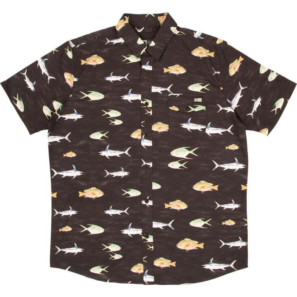 ソルティークルー Salty Crew メンズ 半袖シャツ トップス【Fish Stamp Short Sleeve Woven】Black