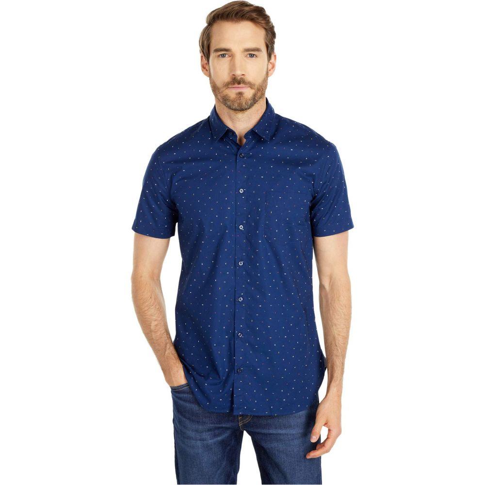 ヒューゴ ボス BOSS Hugo Boss メンズ 半袖シャツ トップス【Magneton Short Sleeve Shirt】Dark Blue