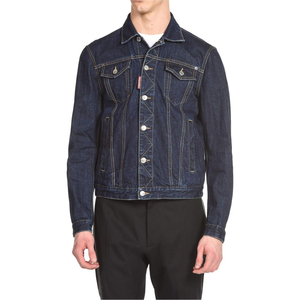 ディースクエアード DSQUARED2 メンズ ジャケット アウター【Clean Dark Wash Dan Jean Jacket】Blue