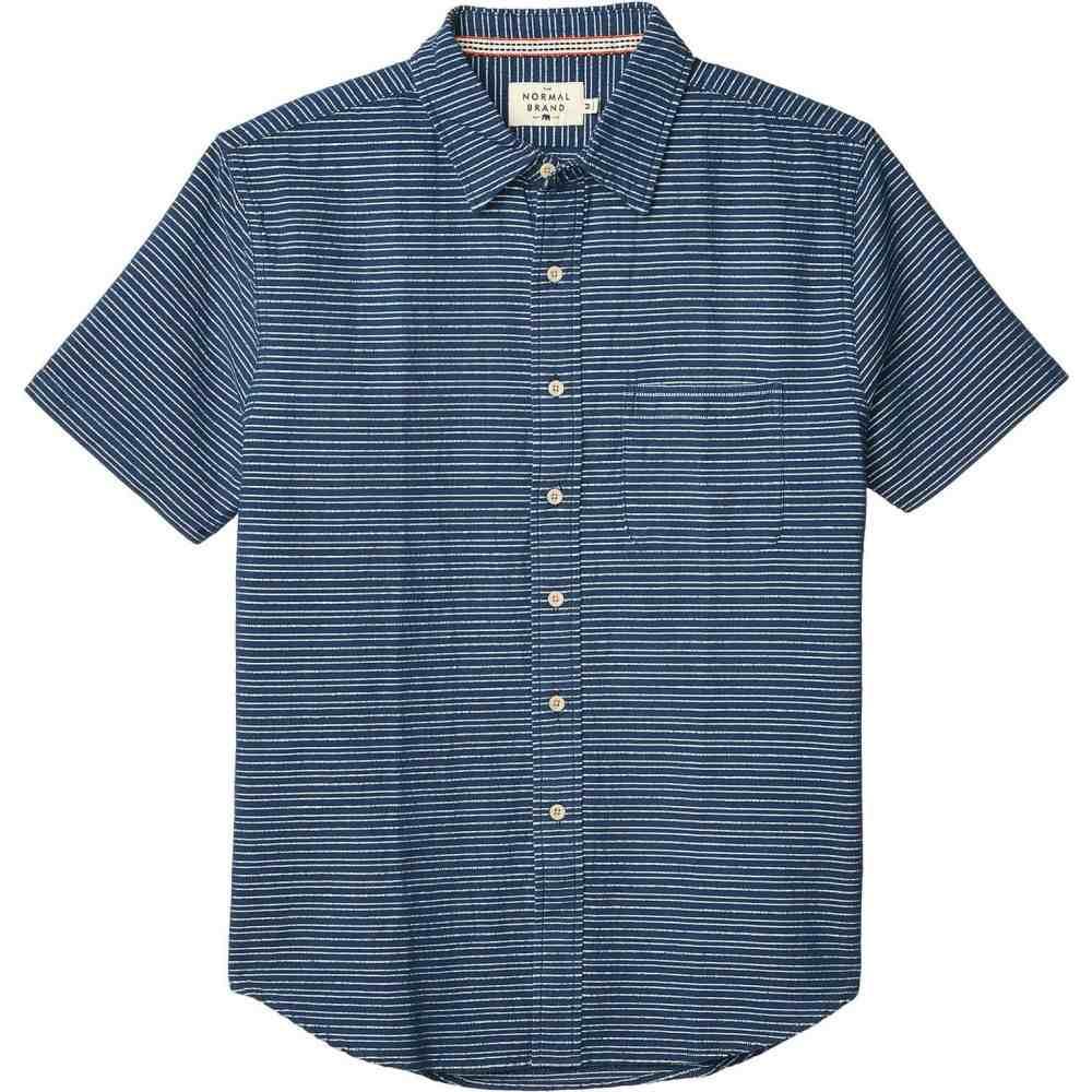 ノーマルブランド The Normal Brand メンズ 半袖シャツ トップス【Freshwater Short Sleeve】Navy