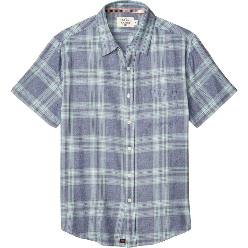 ノーマルブランド The Normal Brand メンズ 半袖シャツ トップス【Short Sleeve Jasper Button-Down】Indigo Plaid