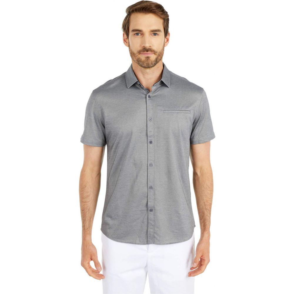 ヴィンス カムート Vince Camuto メンズ 半袖シャツ トップス【Short Sleeve Sport Shirt with Hacking Pocket】Grey Solid