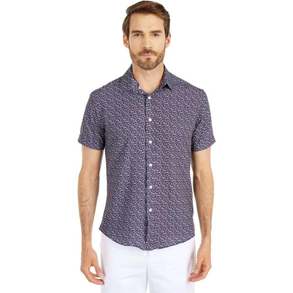 ヴィンス カムート Vince Camuto メンズ 半袖シャツ トップス【Short Sleeve Sport Shirt】Purple Butterfly Sport Shirt