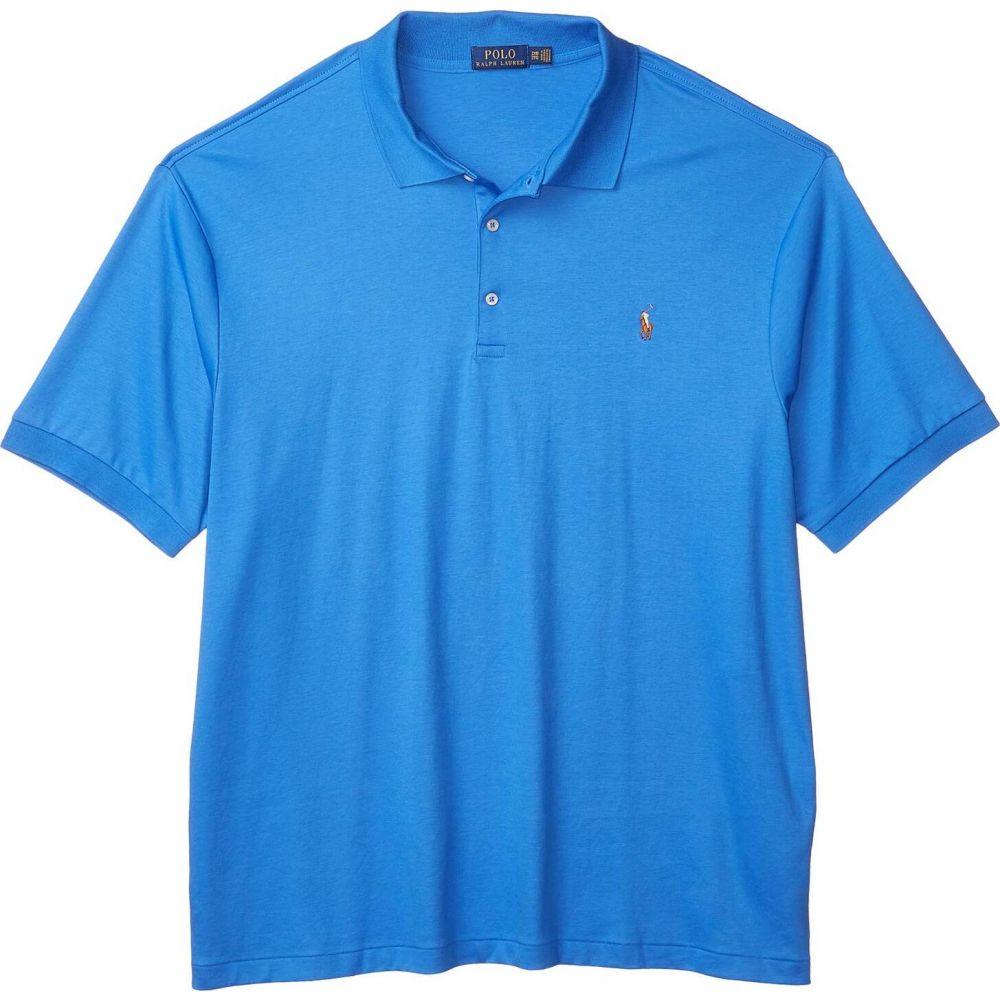 ラルフ ローレン メンズ トップス ポロシャツ Colby Blue 年末年始大決算 サイズ交換無料 最安値挑戦 Polo 大きいサイズ Ralph Short Lauren 半袖 Sleeve Tall Big Mesh