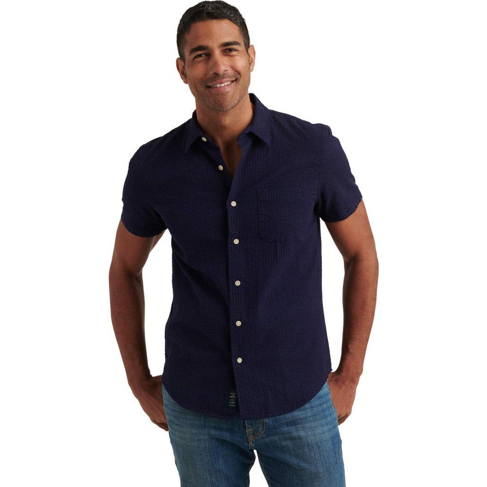 ラッキーブランド Lucky Brand メンズ 半袖シャツ トップス【San Gabriel One-Pocket Short Sleeve Shirt】Evening Blue