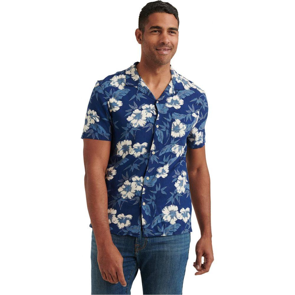 ラッキーブランド Lucky Brand メンズ 半袖シャツ トップス【Floral Print Club Collar Short Sleeve Shirt】Blue Print