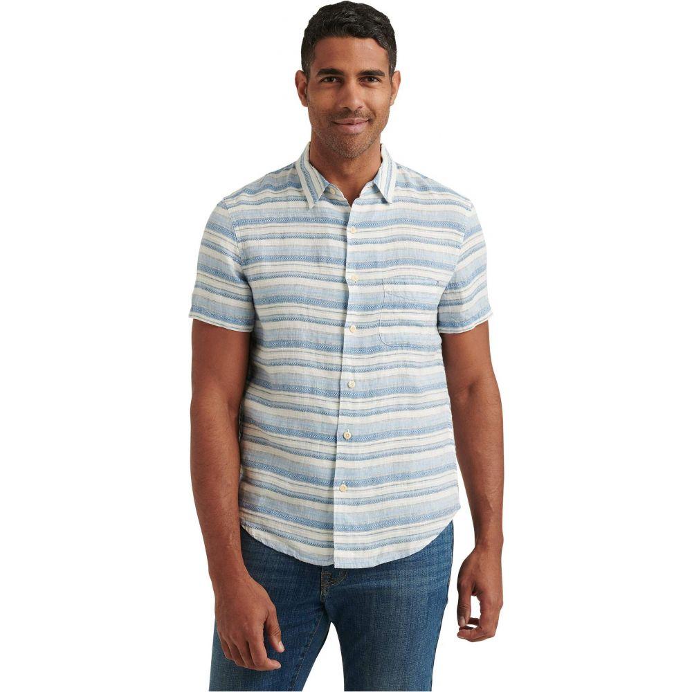 ラッキーブランド Lucky Brand メンズ 半袖シャツ トップス【Short Sleeve San Gabriel One-Pocket Shirt】Blue/White Stripe