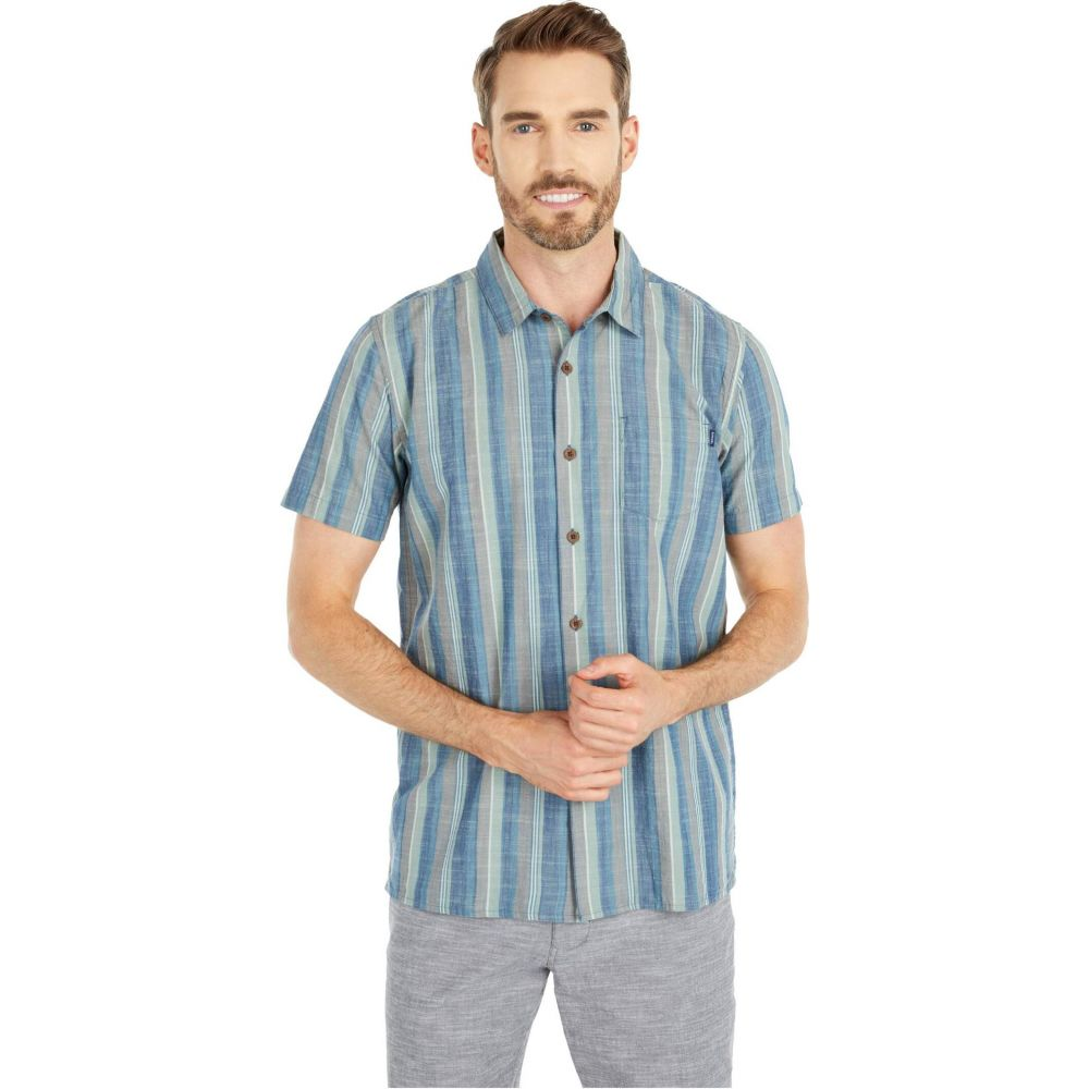 リップカール Rip Curl メンズ 半袖シャツ トップス【Sunshine Short Sleeve Shirt】Navy