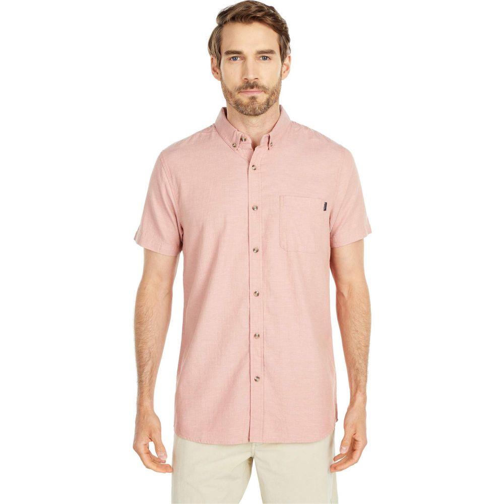 リップカール Rip Curl メンズ 半袖シャツ トップス【Our Time Short Sleeve Shirt】Salmon
