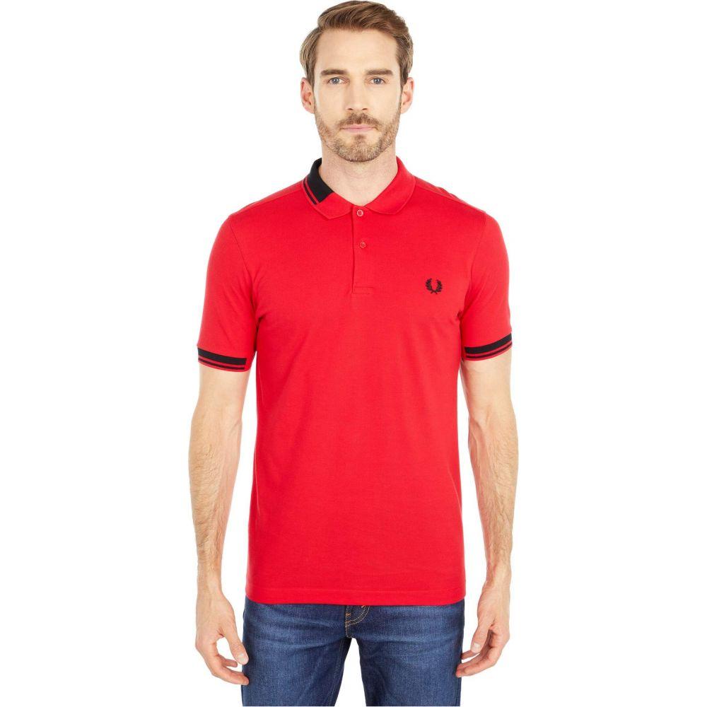 フレッドペリー Fred Perry メンズ ポロシャツ トップス【Abstract Collar Polo Shirt】Jester Red