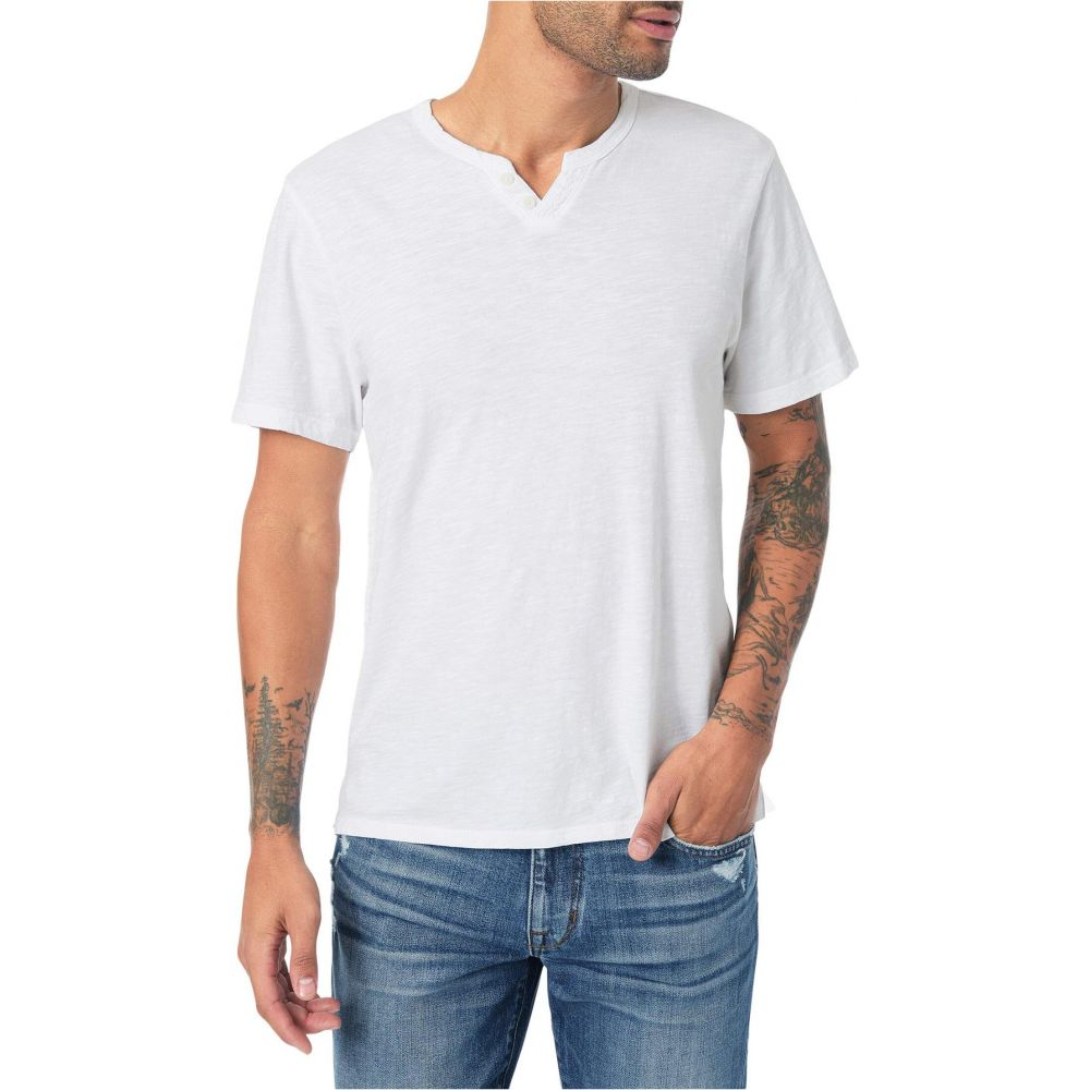 ジョーズジーンズ Joe's Jeans メンズ Tシャツ ヘンリーシャツ トップス【Wintz Short Sleeve Slub Henley】White