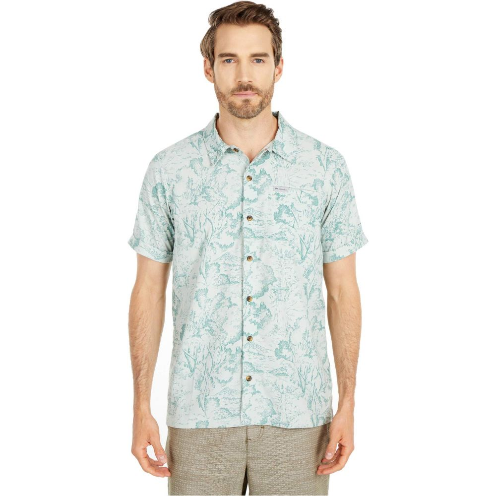 コロンビア Columbia メンズ 半袖シャツ トップス【Outdoor Elements(TM) Short Sleeve Print Shirt】Pixel Wild Trees Print
