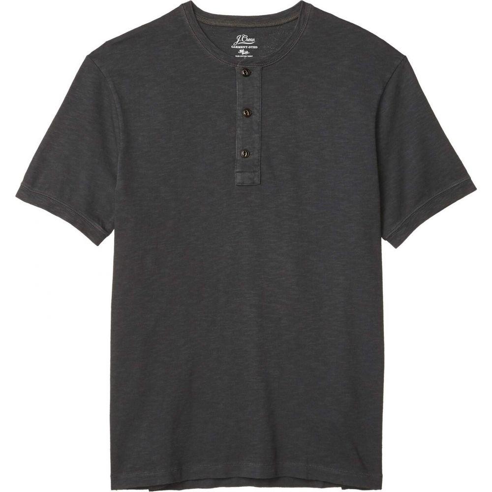 ジェイクルー J.Crew メンズ Tシャツ ヘンリーシャツ トップス【Garment Dye Short Sleeve Henley】Black