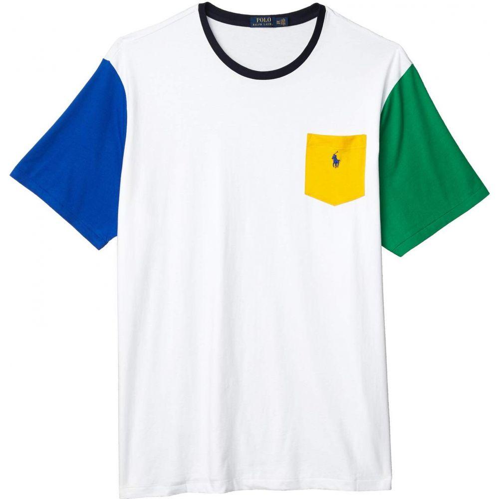 【期間限定お試し価格】 ラルフ ローレン Polo Ralph Lauren Big & Tall メンズ Tシャツ 大きいサイズ トップス【Big & Tall 26/1 Jersey Short Sleeve Classic Fit T-Shirt】White Multi, インテリアショップ ネオライフ a2ff77d8