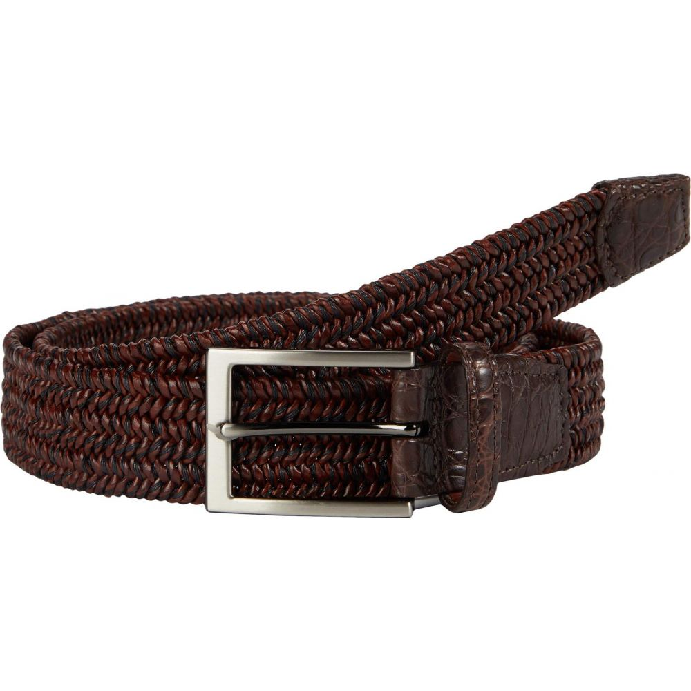 トリノレザー Torino Leather Co. メンズ ベルト 【35 mm Italian 'Twist' Woven Leather & Cotton Elastic】Brown