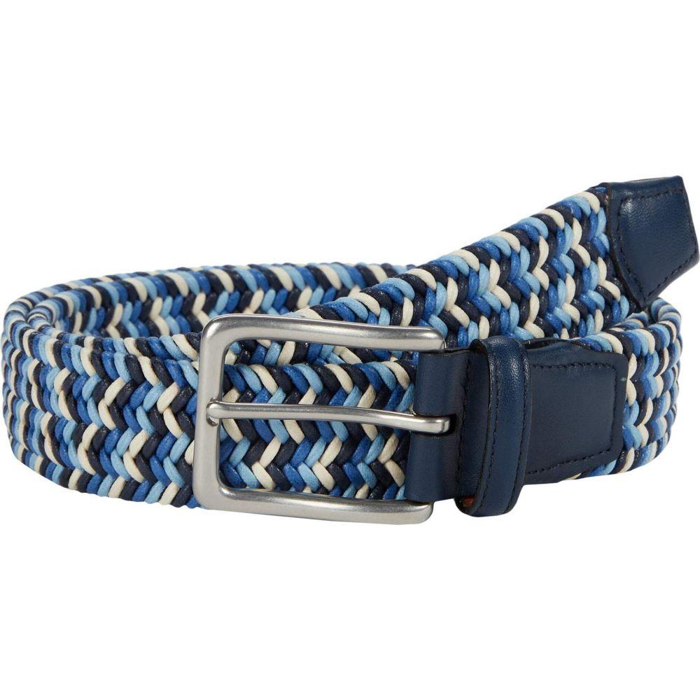 トリノレザー Torino Leather Co. メンズ ベルト 【35 mm Italian Woven Cotton】Navy/Blue/Cream