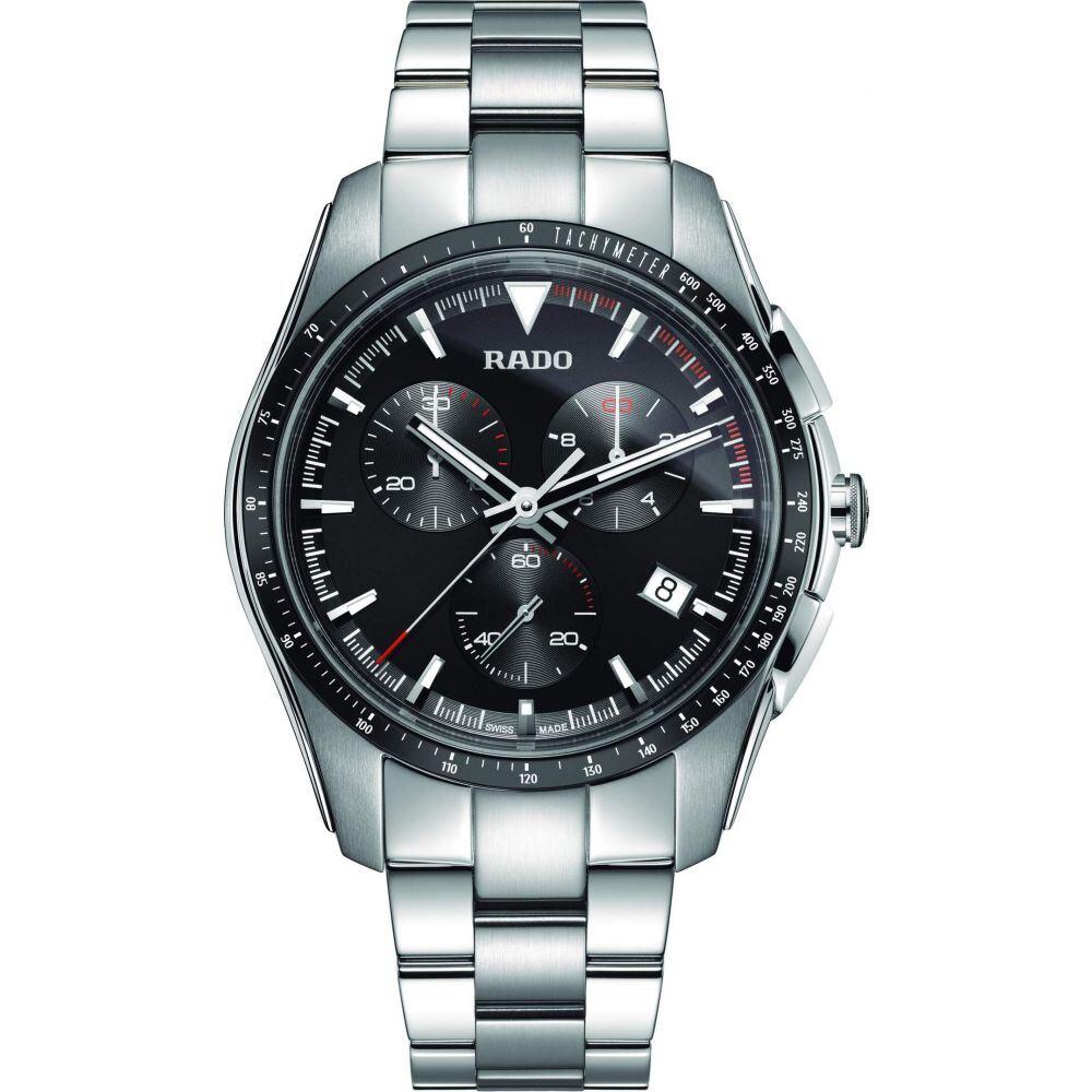 【ご予約品】 ラドー RADO メンズ 腕時計 クロノグラフ クォーツ式時計【Hyperchrome Chronograph Quartz - R32259153】Black, KRIDE JAPAN(国産無垢テーブル) 618b99a1