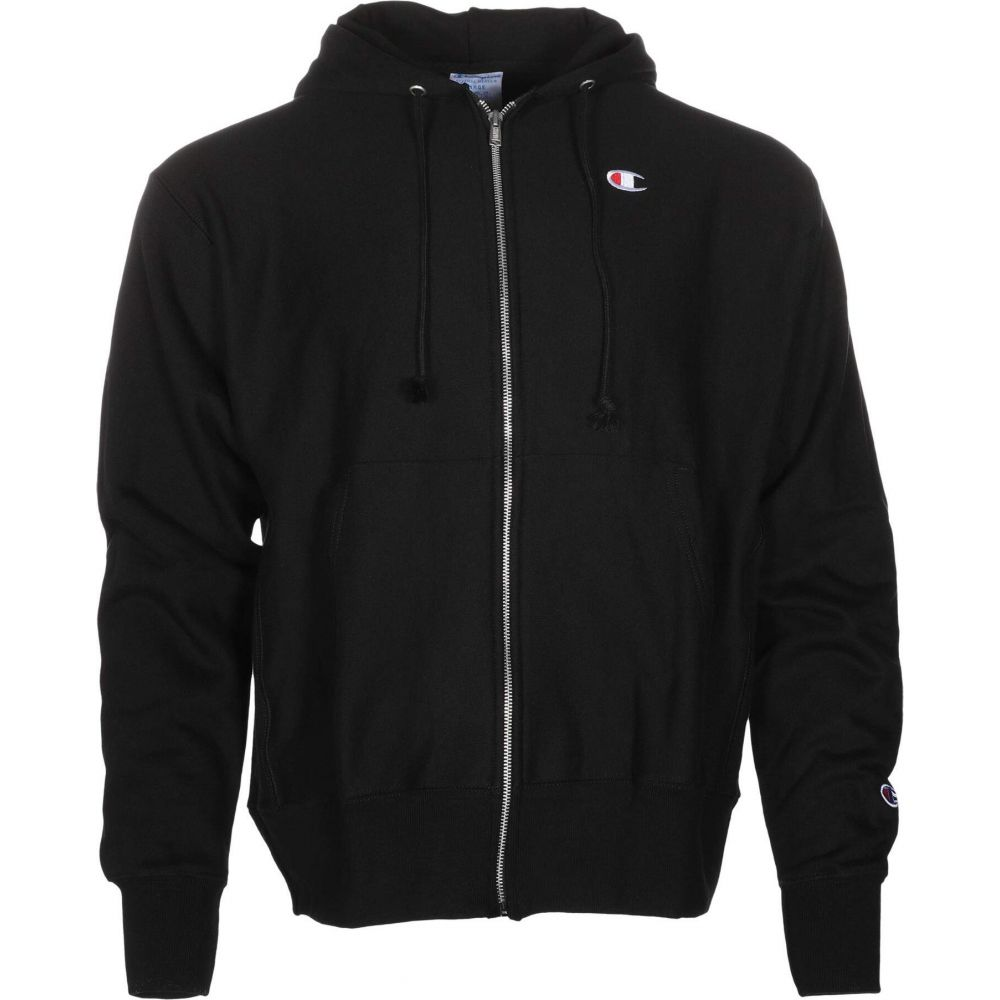 チャンピオン Champion メンズ パーカー トップス【Reverse Weave Full Zip Hoodie - Small C】Black