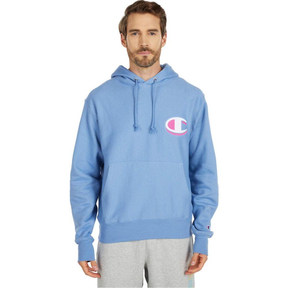 チャンピオン Champion LIFE メンズ パーカー トップス【Reverse Weave Pullover Hoodie】Frontier Blue