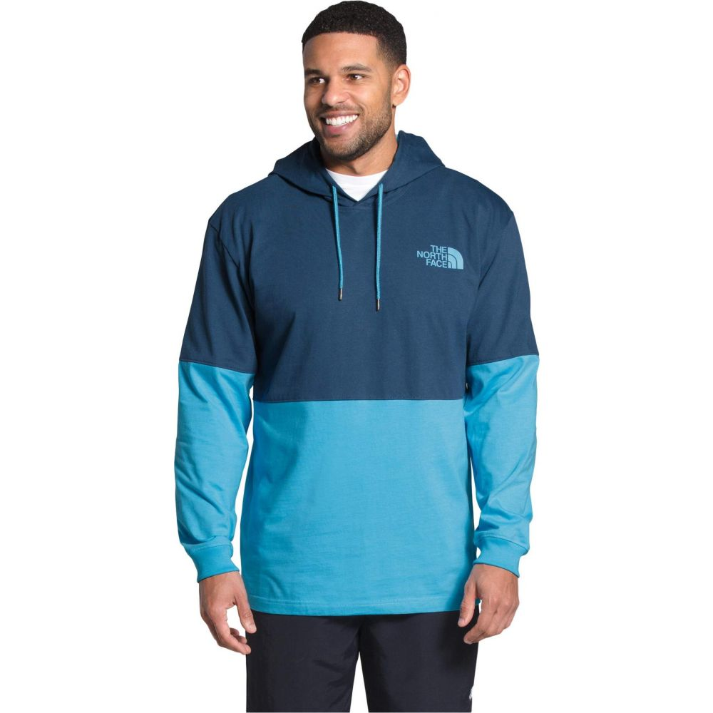 ザ ノースフェイス The North Face メンズ パーカー トップス【Heavyweight Half & Half Pullover Hoodie】Shady Blue/Ethereal Blue