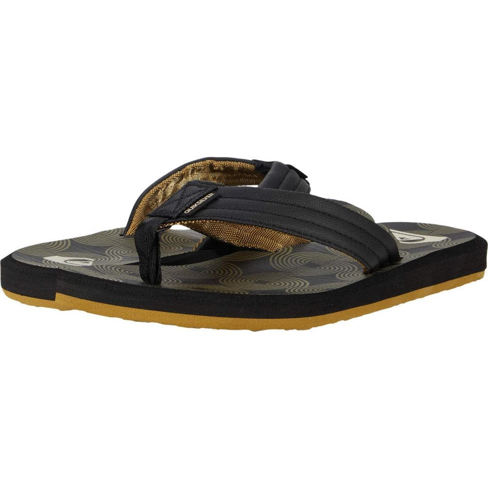 クイックシルバー Quiksilver メンズ ビーチサンダル シューズ・靴【Carver Print】Black/Black/Brown