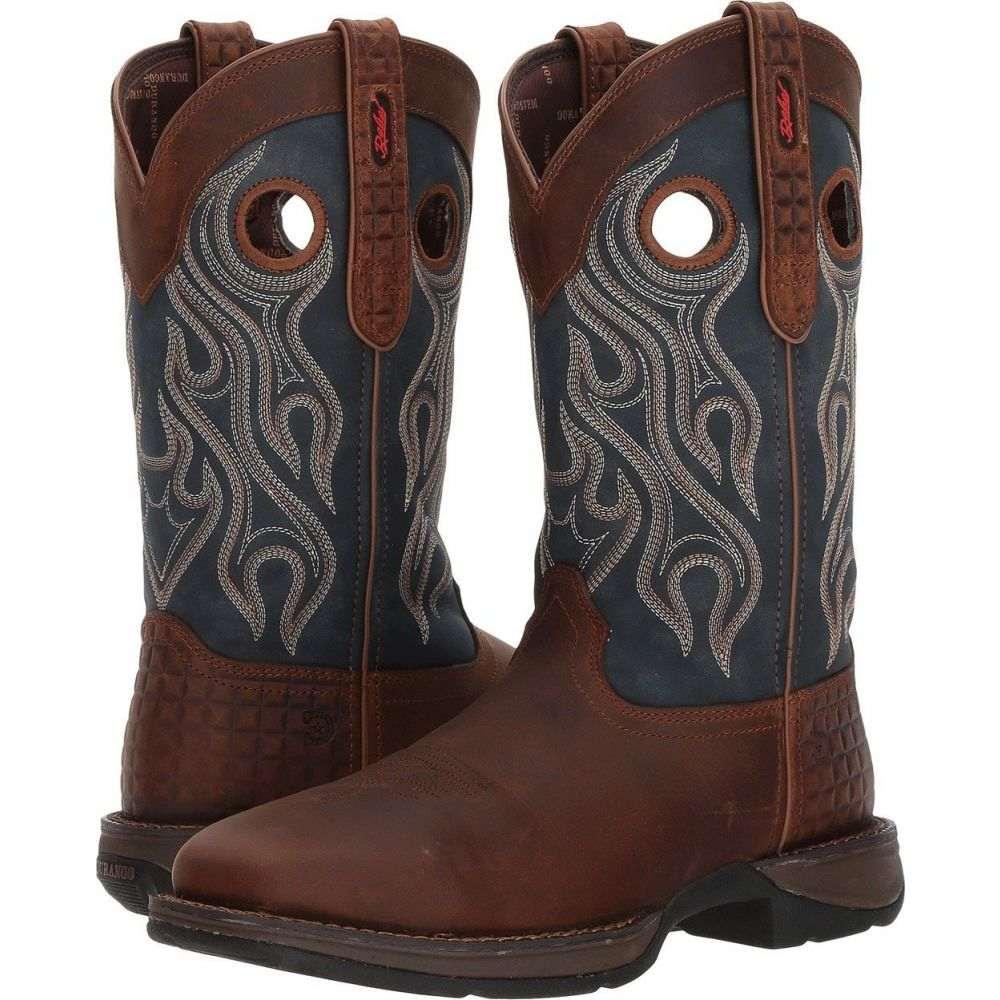 デュランゴ Durango メンズ ブーツ シューズ・靴【Rebel 12' Western WP Square Steel Toe】Dark Brown/Blue