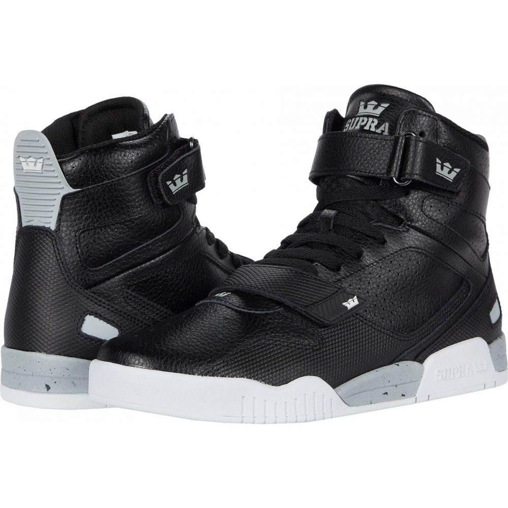 スープラ Supra メンズ スニーカー シューズ・靴【Breaker】Black/Light Grey/White
