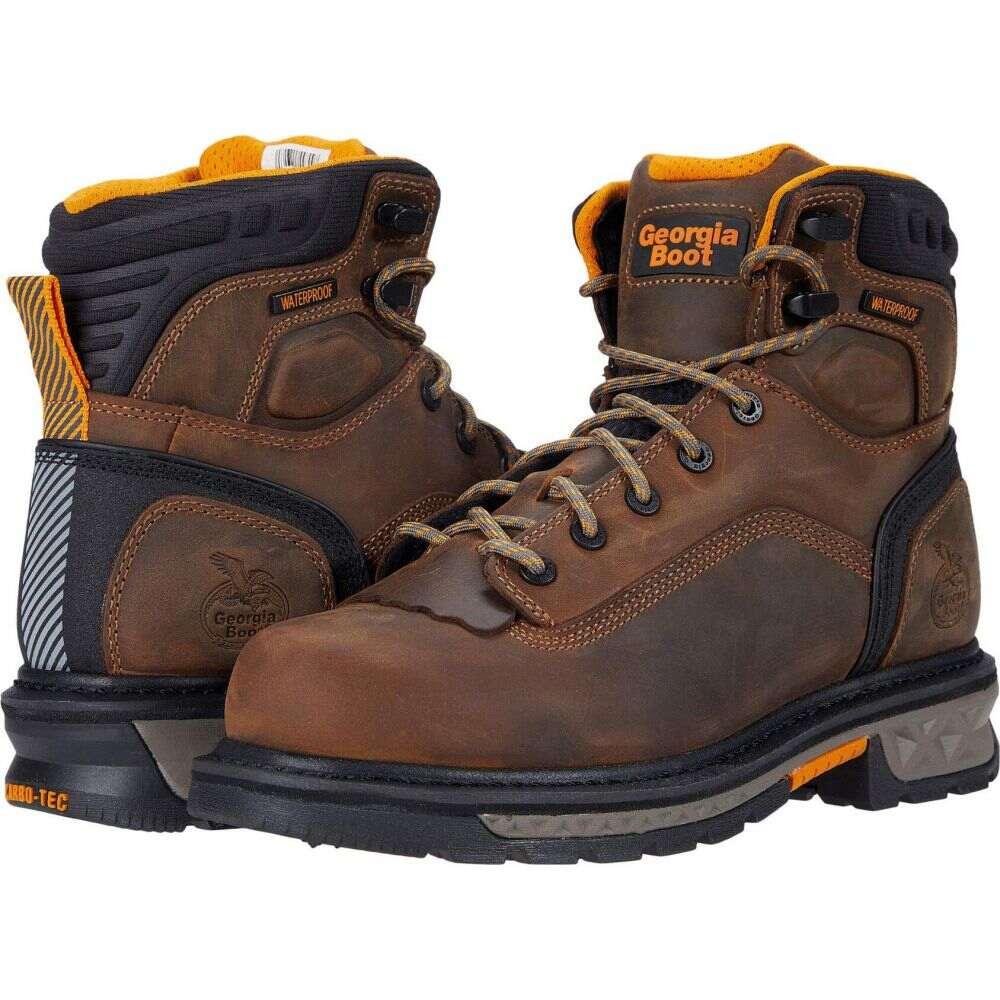 ジョージアブーツ Georgia Boot メンズ ブーツ シューズ・靴【Carbo-Tec LTX Waterproof 6' Soft Toe】Brown