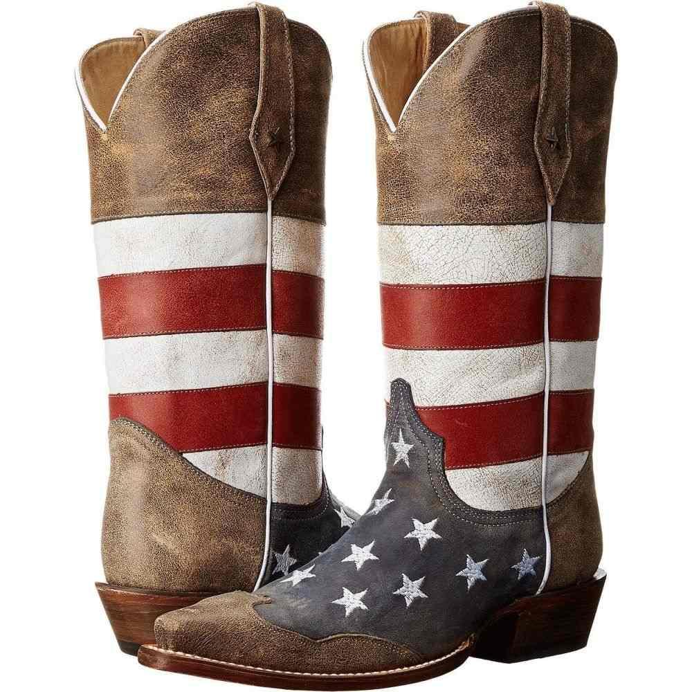 ローパー Roper メンズ ブーツ シューズ・靴【American Flag Snip Toe】Brown