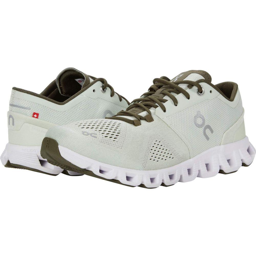オン On メンズ ランニング・ウォーキング シューズ・靴【Cloud X】Aloe/White