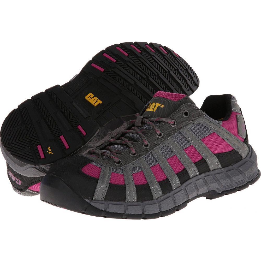キャピタラー カジュアル Caterpillar レディース スニーカー シューズ・靴【Switch Steel Toe】Black/Baton Rouge