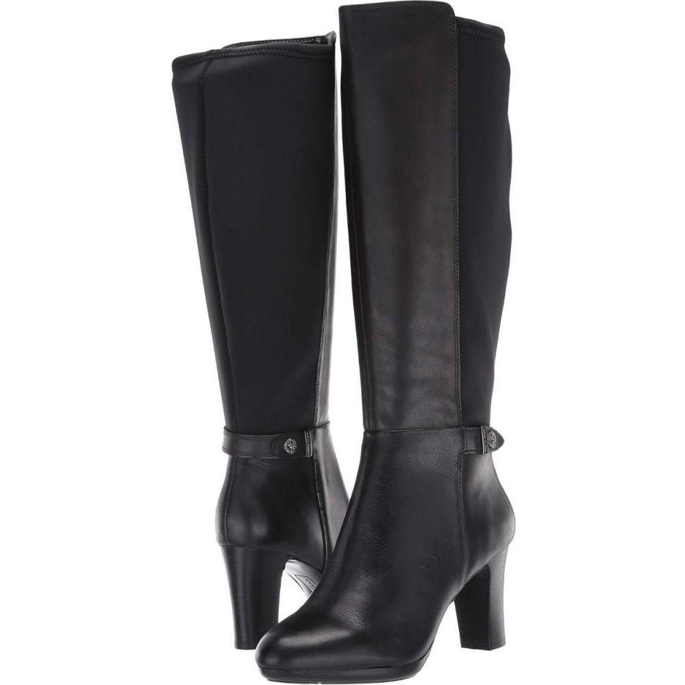 アン クライン Anne Klein レディース ブーツ シューズ・靴【Silence Wide Calf】Black Leather