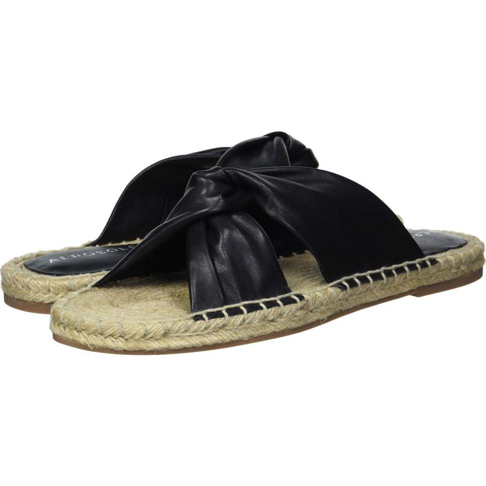 エアロソールズ Aerosoles レディース サンダル・ミュール シューズ・靴【Paramus】Black Leather