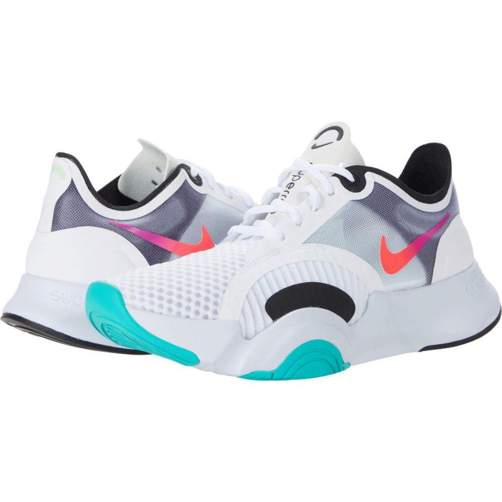 ナイキ Nike レディース スニーカー シューズ・靴【SuperRep Go】White/Flash Crimson/Black/Football Grey