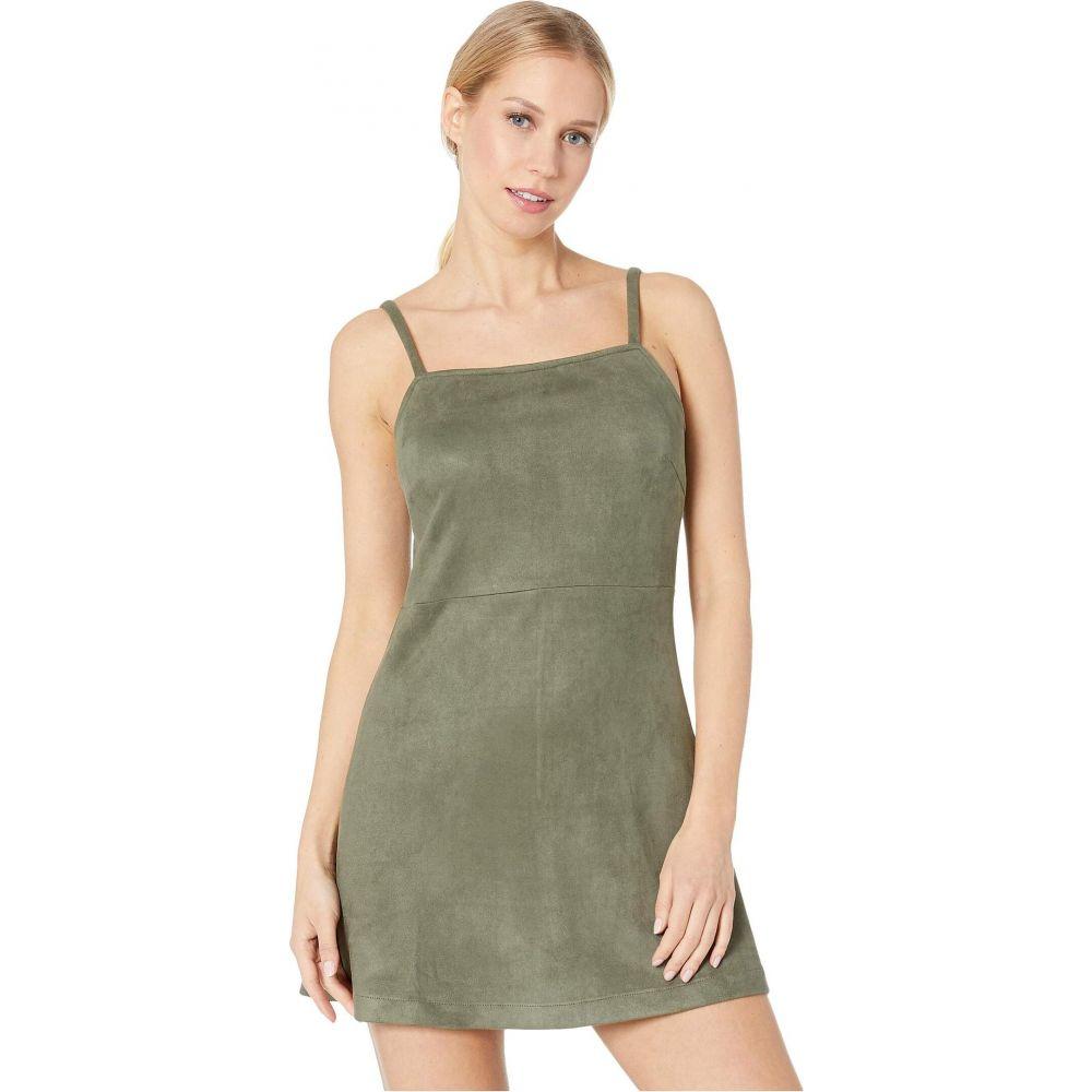 ビービーダコタ BB Dakota レディース ワンピース ワンピース・ドレス【Fair & Square Faux Suede Dress】Bettle Green