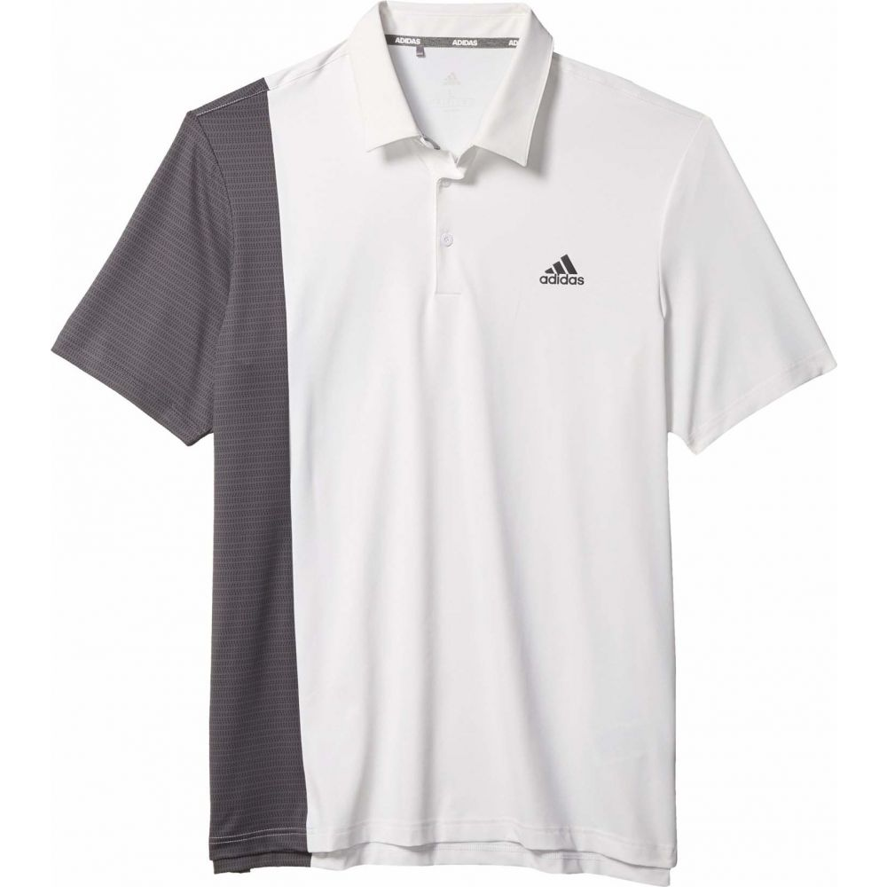 アディダス adidas Golf メンズ ポロシャツ トップス【Ultimate365 Blocked Print Polo Shirt】White/Grey Six/Collegiate Navy