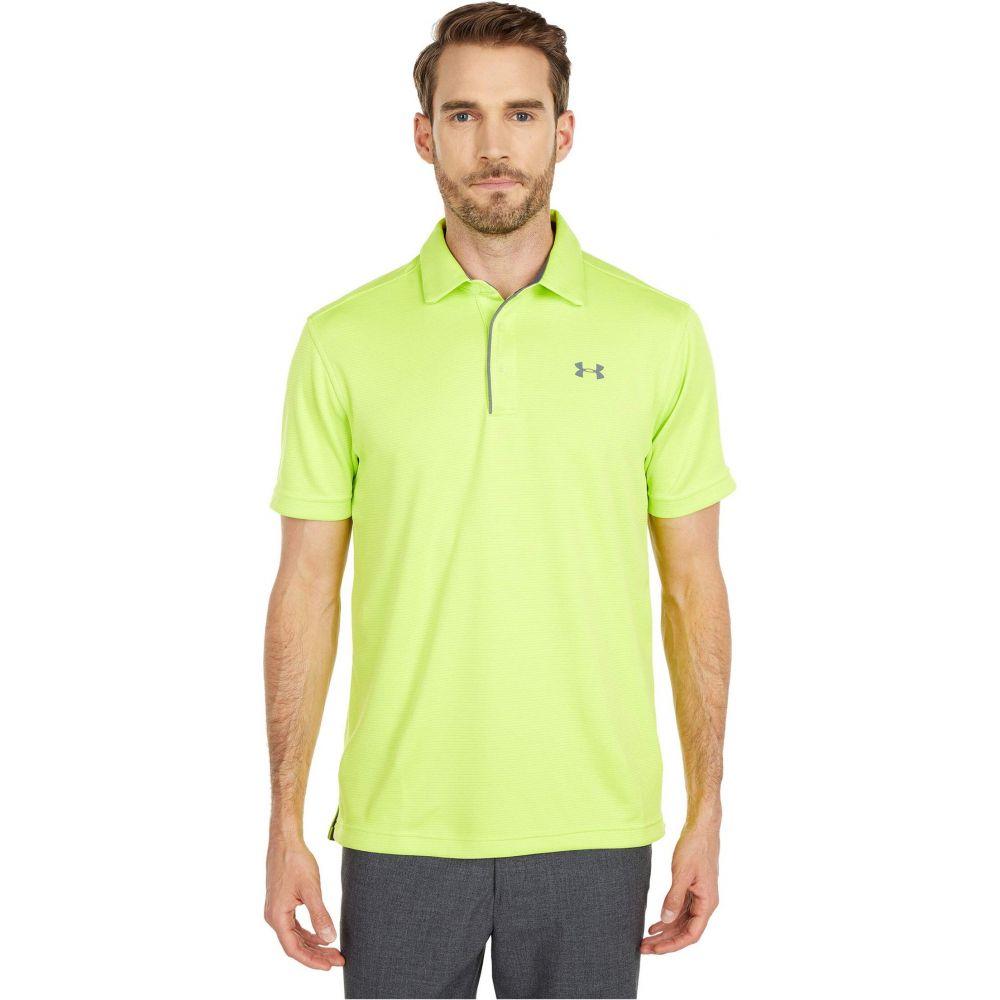 アンダーアーマー Under Armour Golf メンズ ポロシャツ トップス【Tech Polo】Green Citrine/Pitch Gray