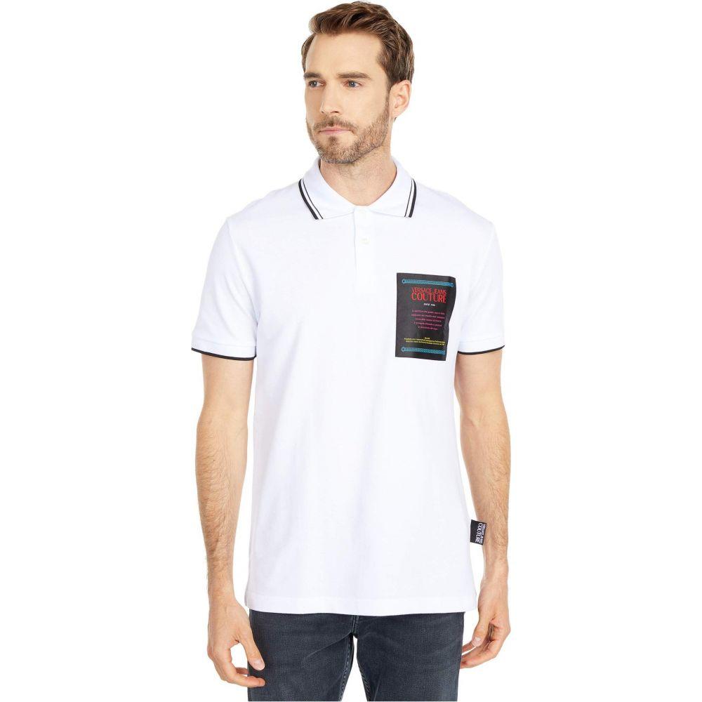ヴェルサーチ Versace Jeans Couture メンズ ポロシャツ トップス【Warranty Patch Polo】Optic White