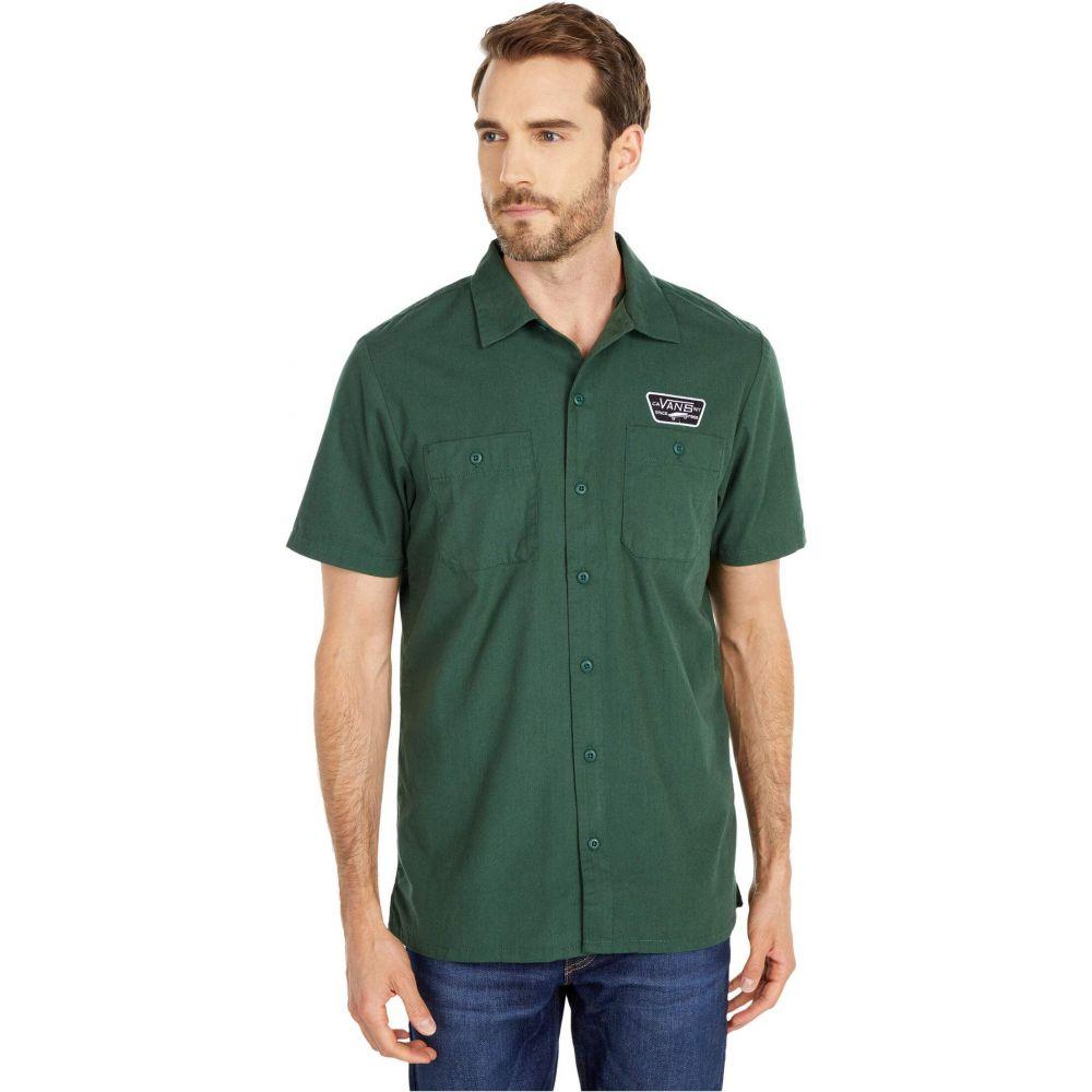 ヴァンズ Vans メンズ 半袖シャツ トップス【Coleman Short Sleeve Woven Shirt】Pine Needle