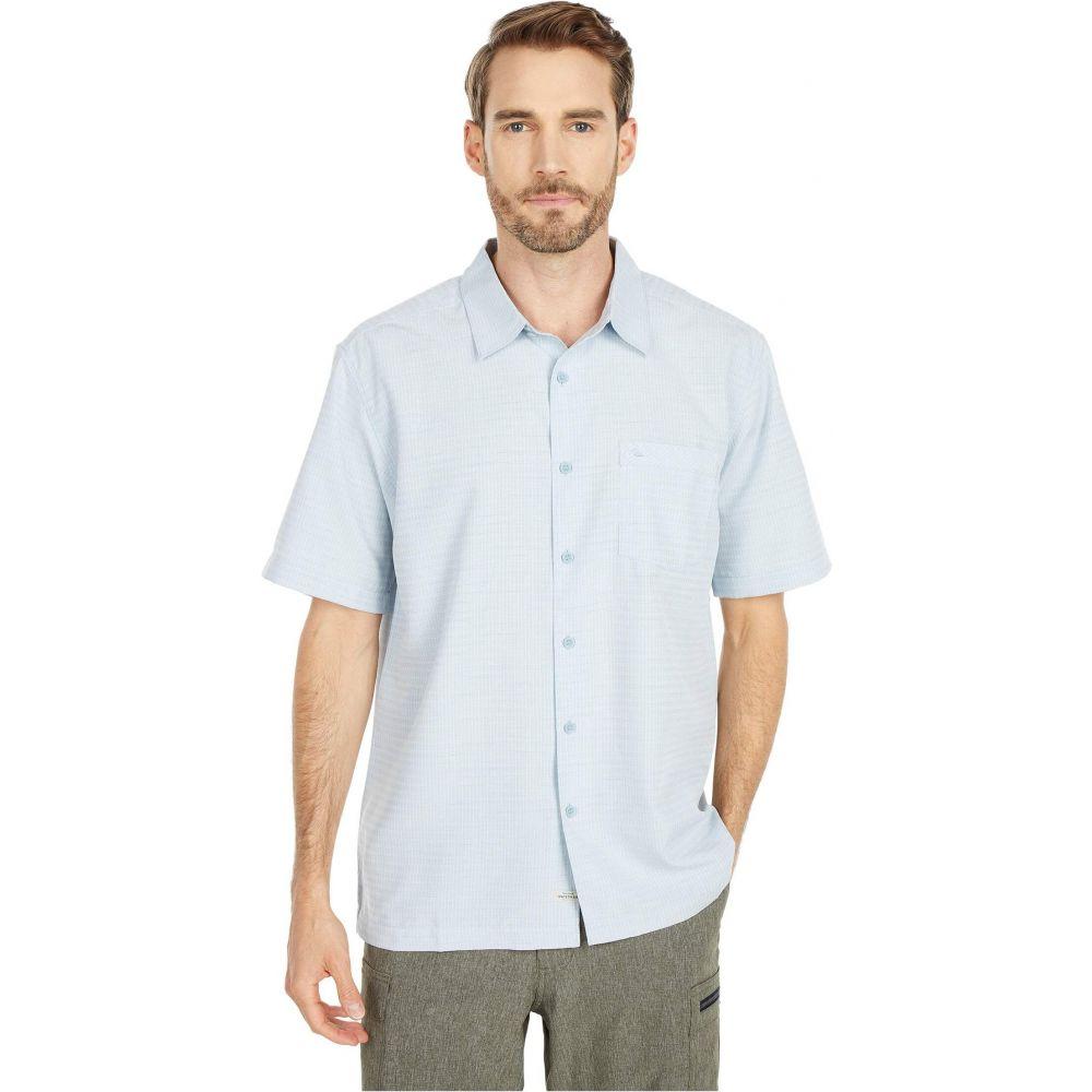 クイックシルバー Quiksilver Waterman メンズ 半袖シャツ トップス【Centinela 4 Short Sleeve Shirt】Dusty Blue