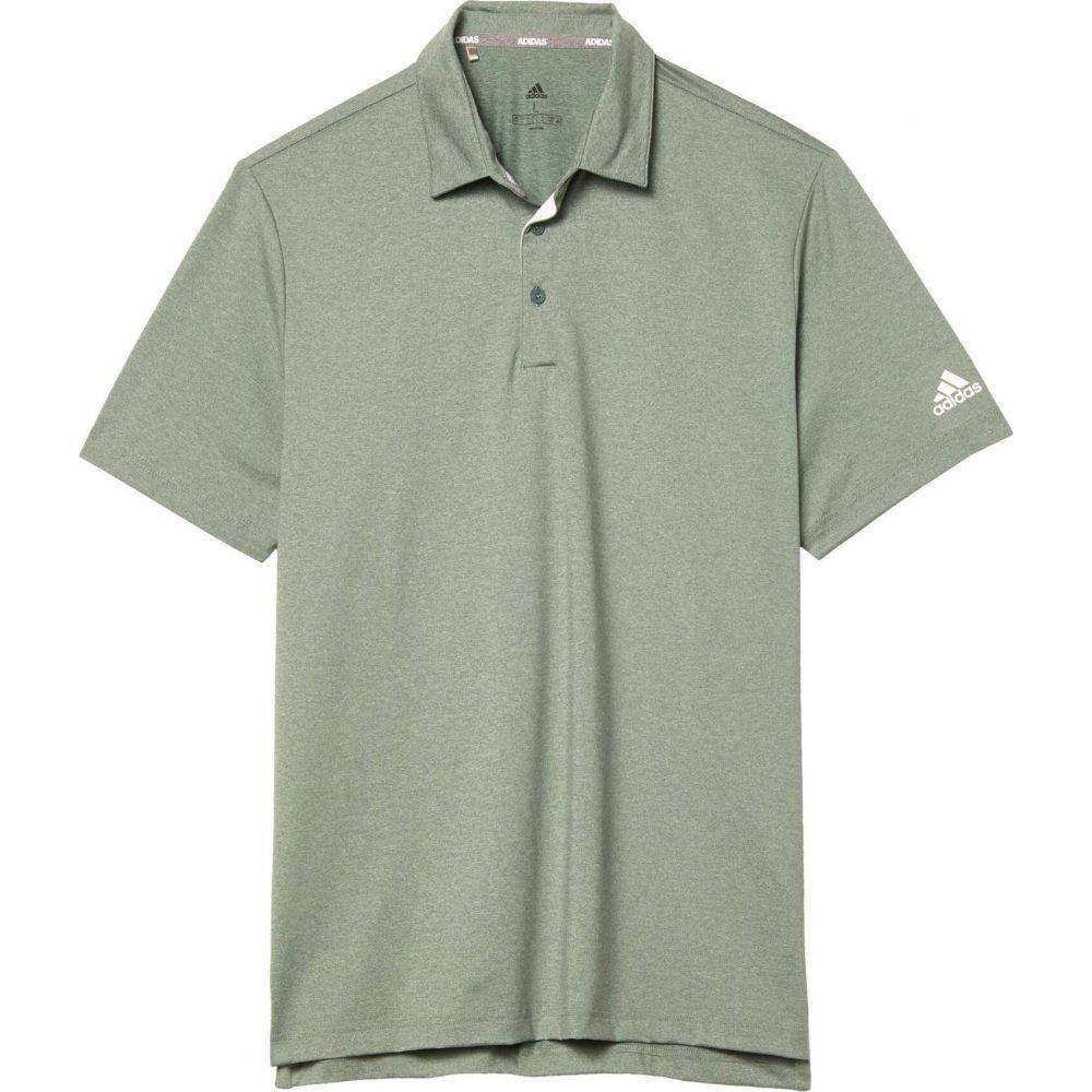 アディダス adidas Golf メンズ ポロシャツ トップス【Ultimate 2.0 Heather Polo】Tech Green Melange