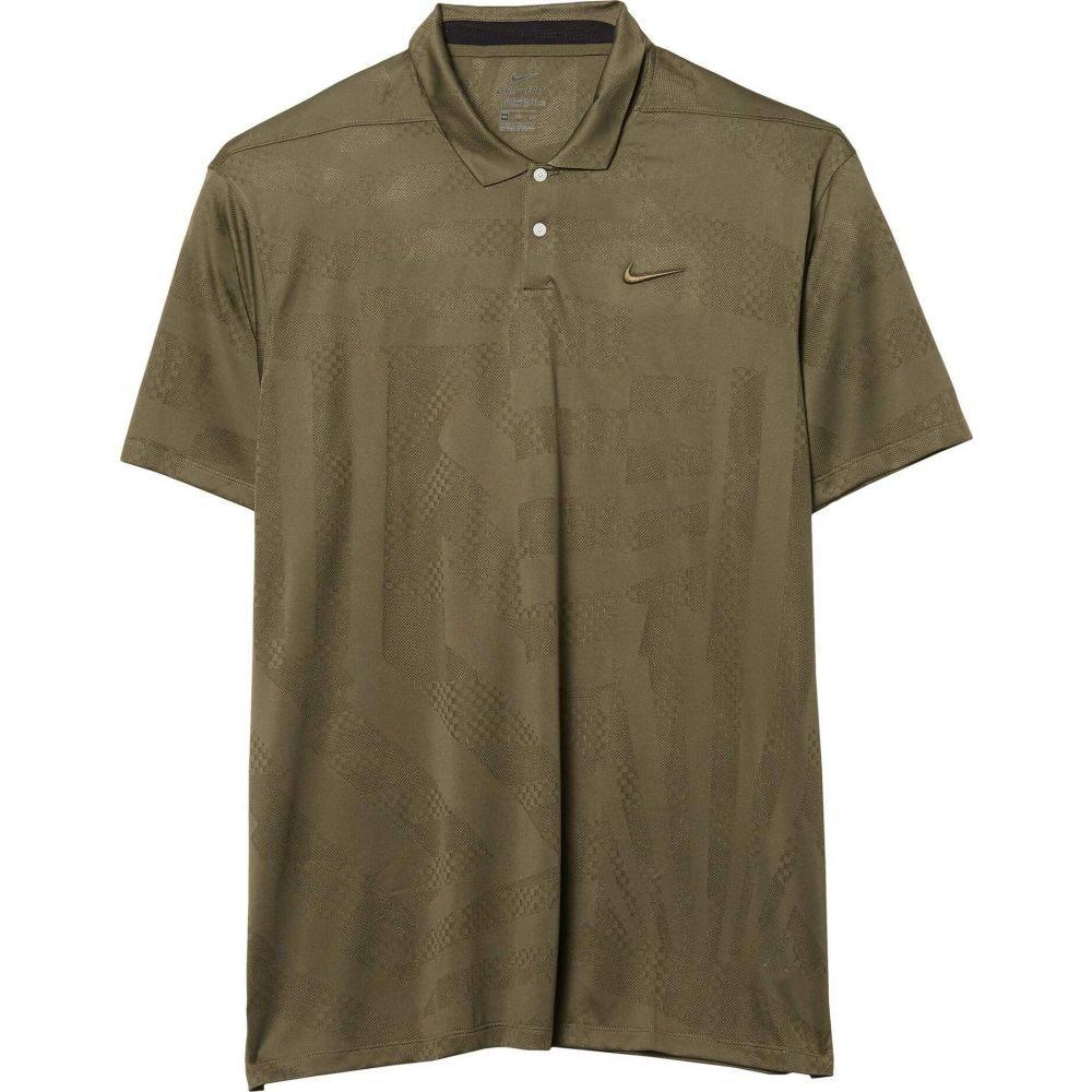ナイキ Nike Golf メンズ ポロシャツ トップス【Dri-FIT(TM) Vapor Polo Jacquard】Medium Olive/Medium Olive